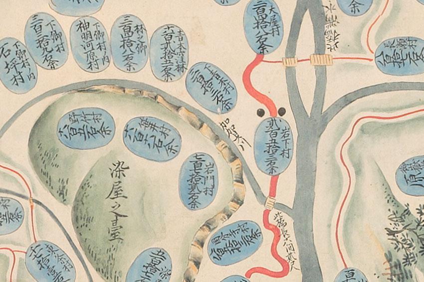 元禄の信濃国絵図